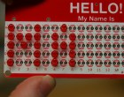 "LED ""Hello! My Name Is"" Name Tag Kit"