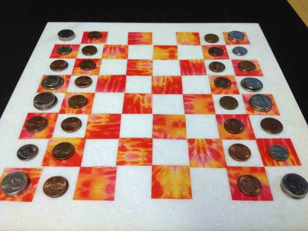 Chess/Checker Board from Tile&nbsp;Remnants