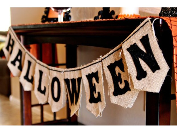 Halloween Burlap Bunting