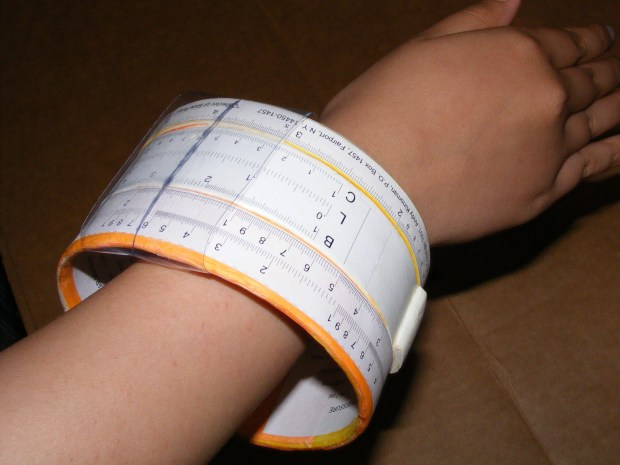 Wearable Slide Rule Bangle Bracelet