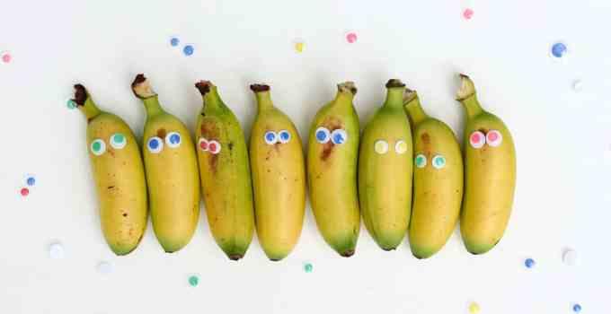 Big Brother / Big Sister Party Idea: Mini Banana Siblings
