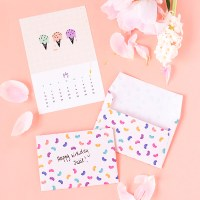 Make and Tell monthly | July's printable calendar and jellybean envelopes