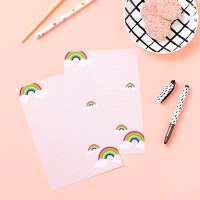 Write on | Printable rainbow letter paper