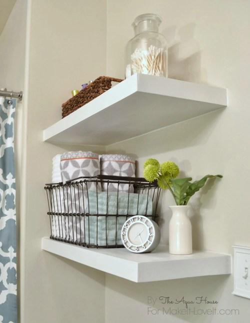Medium Of Floating Shelves Wall