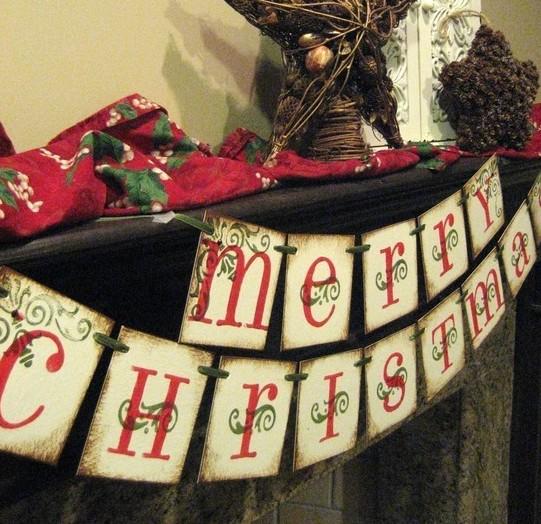 MERRY CHRISTMAS BANNER GARLAND - Bekahjennings