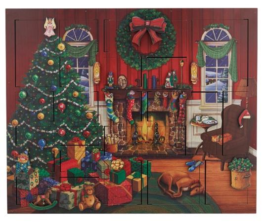 Fireside Wooden Advent Calendar - Fortnum & Mason