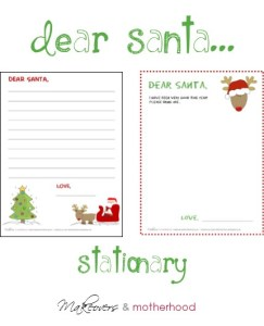 Dear Santa Stationary; www.makeoversandmotherhood.com