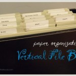 paper organization: vertical file box