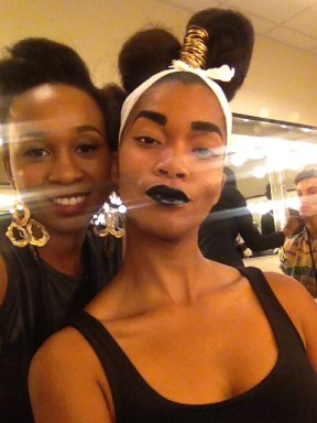 Me & one of the models whose makeup I did
