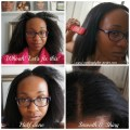 Irresistible Me Diamond Professional Flat Iron Before and After collage