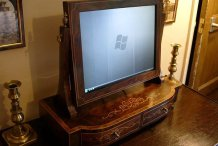 Neo-Victorian marquetry monitor