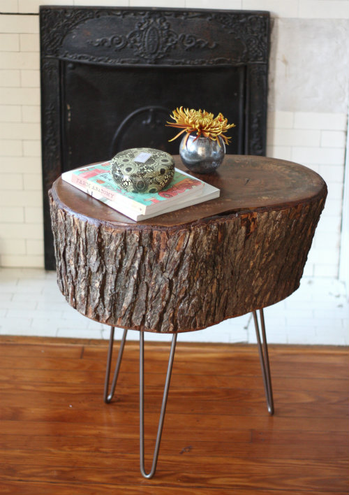 tree stump table hairpin legs make make