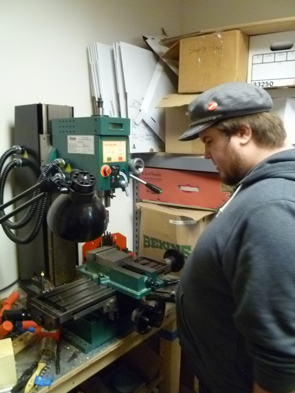 Dan is at home with MAKE Labs' milling machine. With it he has fabricated such things as...