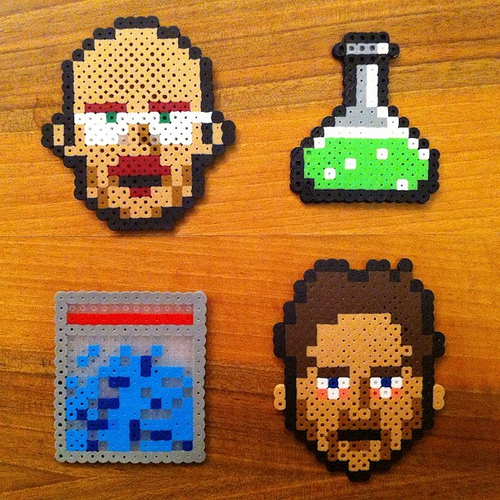 Breaking Bad in Perler beads, by Flickr user CMYBacon.