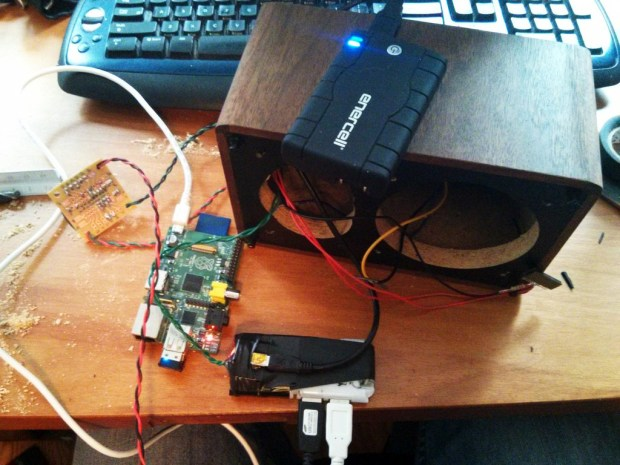 Convert a speaker into a wireless music streamer.
