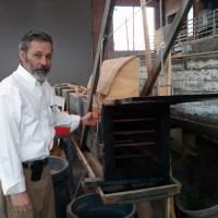 Clark Poston shows off the steam box