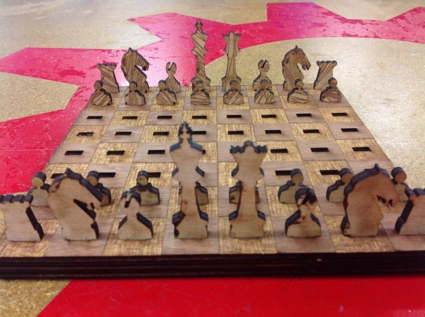 Travel chess set that you can play a 3 dimensional game on! When finished everything packs flat! Perfect for your hectic on the go lifestyle! Fits easy in any backpack or purse!