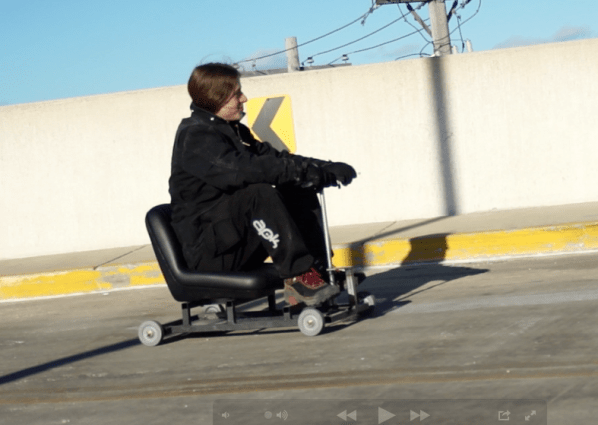 ChipiKart is a very tiny electric racer. It's all the fun you can fit into a lawn tractor seat.