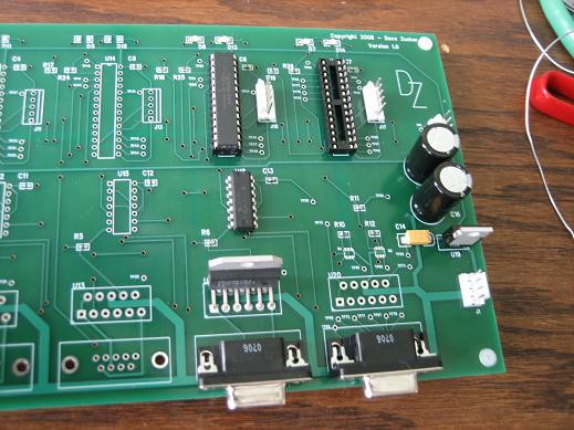 A custom PCB made as part of the project