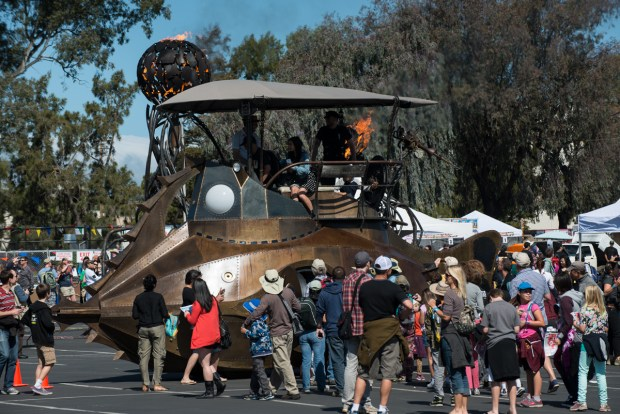 From the Playa to Maker Faire, the diesel-powered Nautilus art car is always a hit.