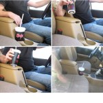 Create this very sneaky hidden remote that activates your garage door when you lift a soda cup in your car. Link: Secret Garage Door Remote.