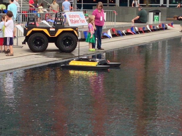 Remote control vehicles: boat and ATV by Clearpath Robotics