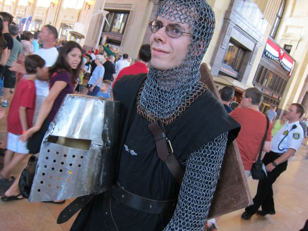 Devin took a couple blacksmithing workshops at the KC Renaissance Festival and figured the rest out about smithing and chainmaille over the Internet.