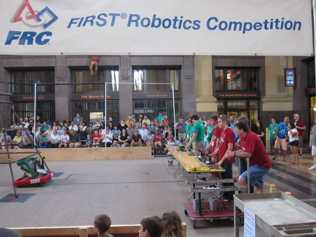 Kansas City apparently has one of the most vibrant FIRST Robotics community—one mentor told me there were 59 teams last year!
