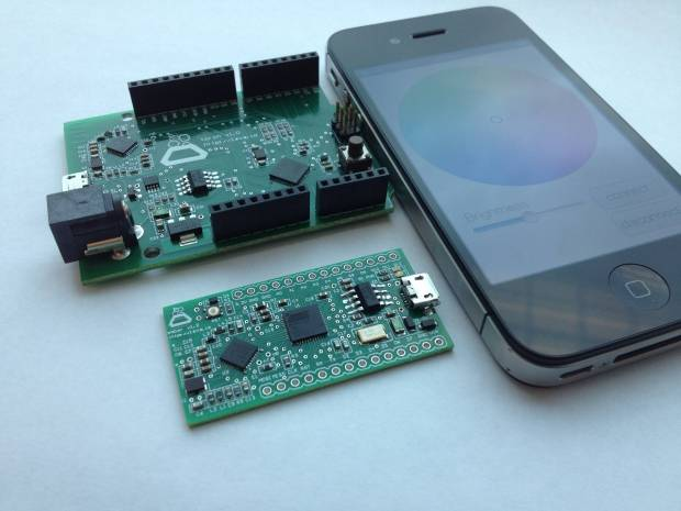 Ember and Torch are Arduino-compatible boards with built-in Bluetooth LE support.