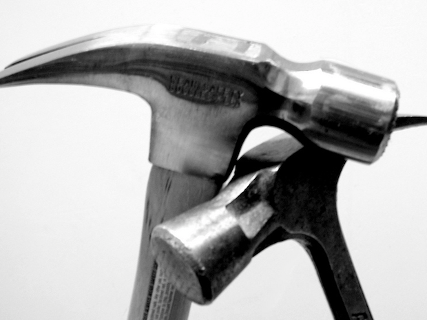 If you're buying a hammer, try them out for size. Is it too heavy for you? Is the handle uncomfortable? Consider that you'll be using it for a long time and you'll want the one that suits you.