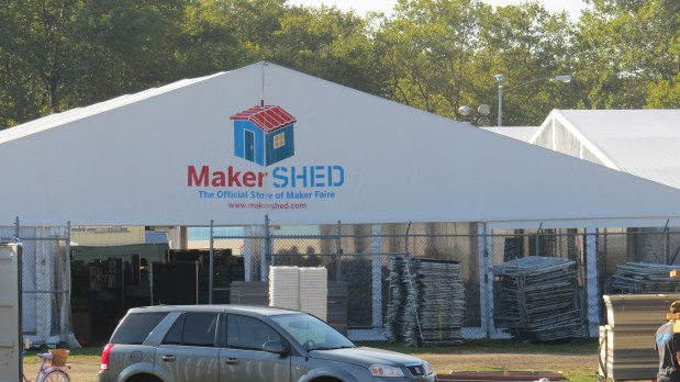 Browse the MakerSHED tent.