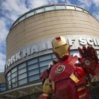 The Iron Man of Maine at Maker Faire NY 2013.