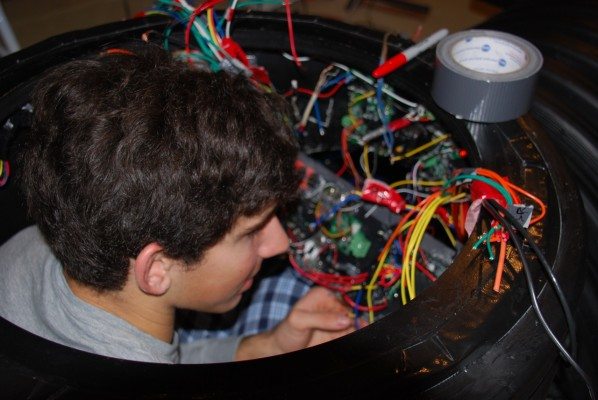 Wiring the control panel. Photo: Ken Beckerman