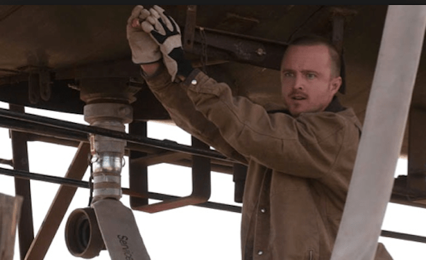 In Season 5, Episode 5, Walt and is crew hatch an elaborate plan to steal a tanker full of methylamine from a train.