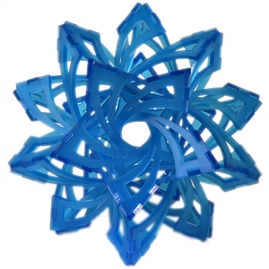 And just because it evokes the start of winter in a beautiful, mathematically derived form that reminds me of the 2D, six-sided symmetry of its snowflake cousins, I have to give a final nod to this gorgeous Frabjous puzzle from mathematician George Hart, made for the Museum of Math. Perhaps this Frabjous form will inspire a young maker you love to design such complex shapes of her own to print in 3D ... or to riff on the design with lasercut pieces of his own unique design.