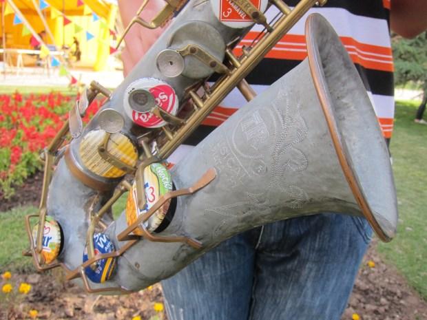 Landfill Harmonic's upcycled saxaphone