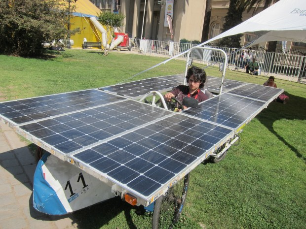 A solar powered car