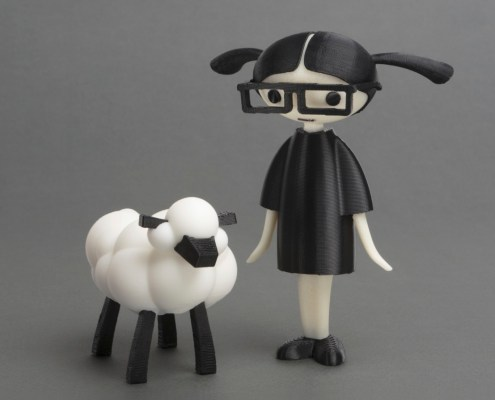 Carla and the Sheep that LEO printed