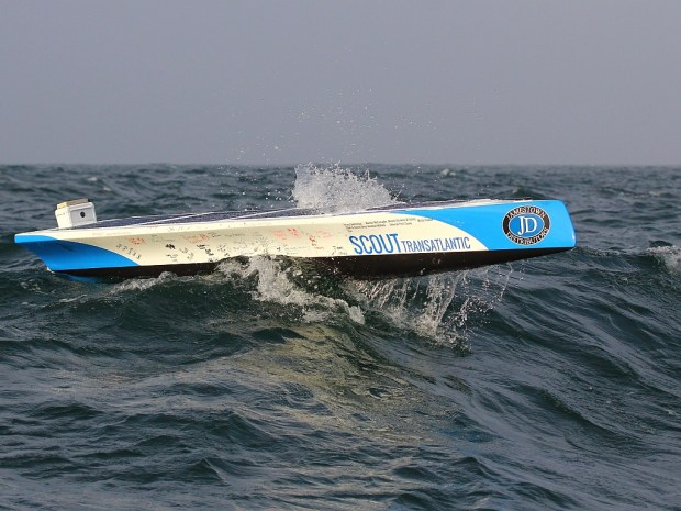 Read more >> Scout Transatlantic drone takes to sea.