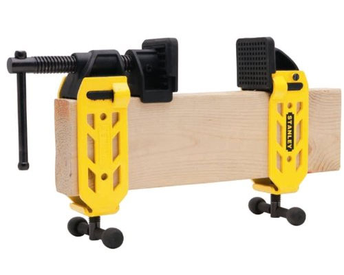 "Stanley's 2x4 clamp will turn any standard 2"" x 4"" (1.5"" x 3.5"" nominal) wood stud into an adjustable bar clamp. Reverse the direction of the jaws and you have an adjustable spreader."