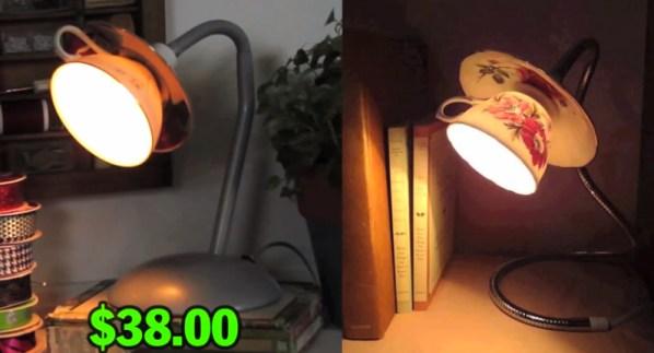 tea cup lamp