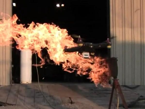 Flew it through fire.