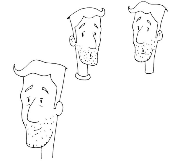 Initial sketches of the Dad character