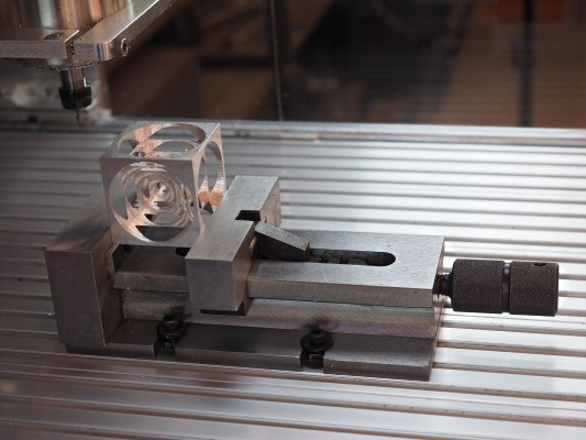 "For machining small parts, you'll want to invest in a small- to medium-sized milling vise, which is a highly precise vise that has a low profile and is designed to be clamped down to your mill's table. There are many types and sizes, and some of them cost hundreds of dollars, so double check your needs. We've tried many vices over the years, but we use a 4"" Quick Vise the most often, and at $59.95 it has a great price compared to the others. You may also want a set of parallels to hold the stock up and keep it level. Photo: Beatty Robotics"