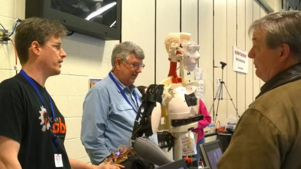 A locally-made InMoov robot was part of the fun.