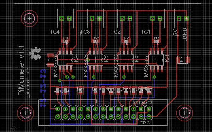 PiMometer Board Layout