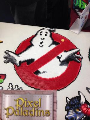 Pixel Paladins also created this excellent Ghostbusters sign. My home theater needs one!