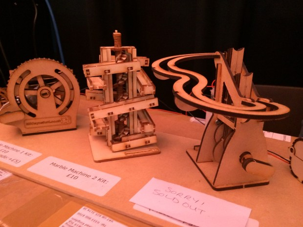 Wooden marble machines