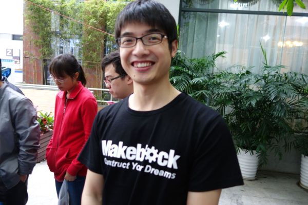 Jasen Wang, CEO of MakeBlock.