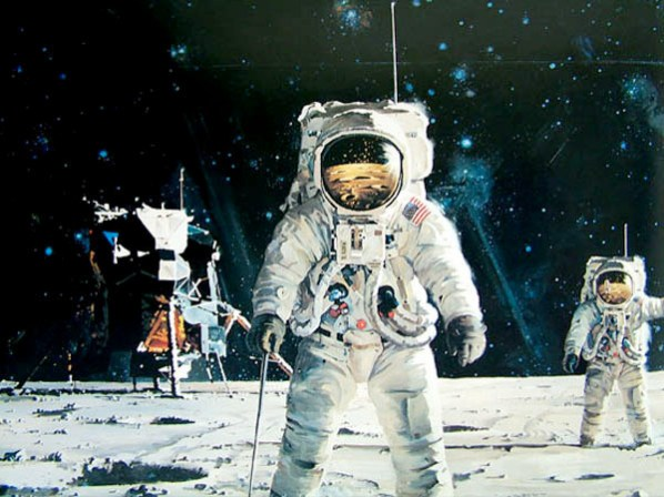 Robert McCall's awesome space art.